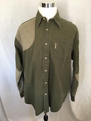 254e222fce6 COLUMBIA Mens Sz.Large Long Sleeve Button Down Shooting Shirt Heavy Cotton