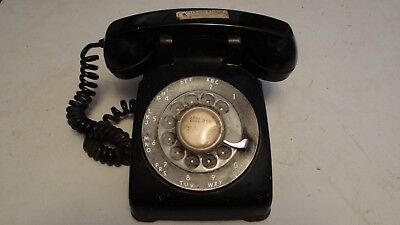 Vintage Bell System Western Electric Black Rotary Dial Telephone USED FREE SHIP
