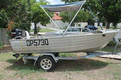 Tinny Boat, Trailer and Extras Registered