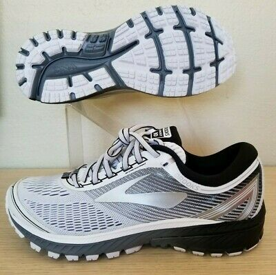 8c8845055c8 Brooks Ghost 10 Running Shoes DNA White Silver Black Size 8 NEW (  1102571D167 )