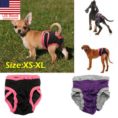 US Pet Dog Physiological Pants Diaper Panties Underwear for Female Dog Washable