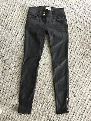 LTB Jeans Black Wet Look Size 25