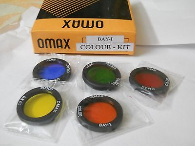 ROLLEI BAYI BAJONET I BAY 1 COLOR FILTER (5) KIT FOR ROLLEIFLEX TLRs Brand New=