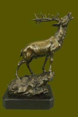 Large Bronze Scottish Hightlands Stag Deer Sculpture Stags Figurine Figure House