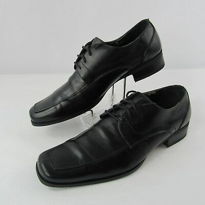 ce35dea11d4 Steve Madden Evollve Size 9.5 US Leather Upper Dress Shoes Lace Up Black  Mens