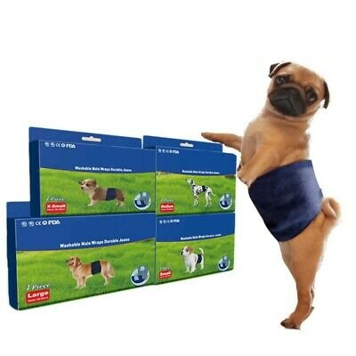 Pet Dogs Washable Diapers Bands Reusable Male Dog Belly Wrap For Pet Dog Boy Men
