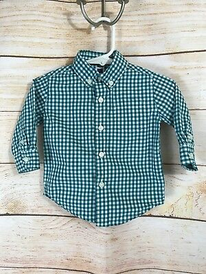 3d9a27a07 Janie and Jack Baby Boys Plaid Button Up Shirt Size 3-6 Months Long Sleeve
