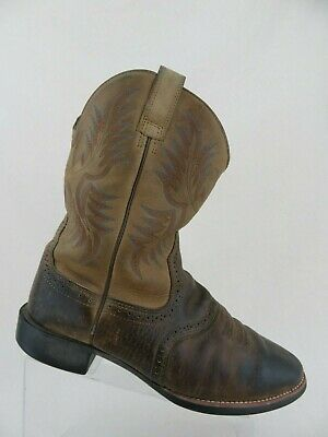 12a09968ed7 ARIAT HERITAGE STOCKMAN Round-Toe Brown Sz 11 EE Wide Men Western Boots  Cowboy