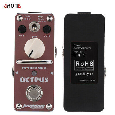 AROMA A-OS-3 Octpus Polyphonic Octave Electric Guitar Effect Pedal Q6Q0