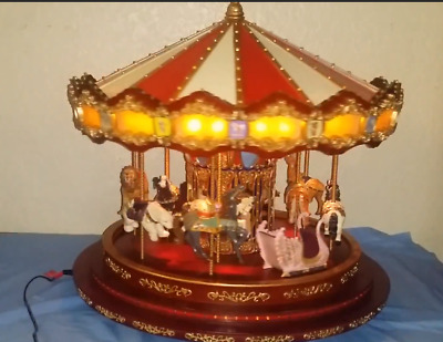 Mr Christmas Carousel.Mr Christmas Holiday Marquee Grand Carousel Animated Works