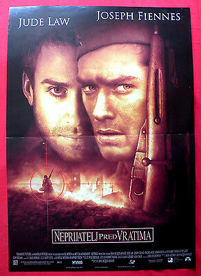 Enemy At The Gates 2001 Jude Lav Joseph Fiennes Ed Harris Serbian Movie Poster