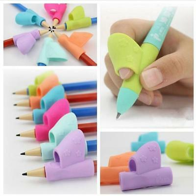 3PCS Children Kids Pencil Holder Pen Writing Aid Grip Posture Correction Tool B