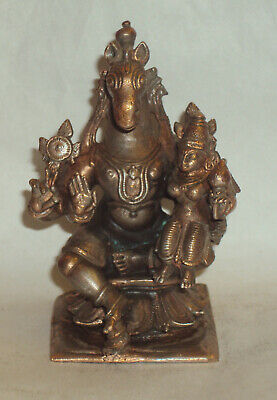Antique looking Traditional Indian Ethnic Ritual Sculpture God Hayagriva Rare