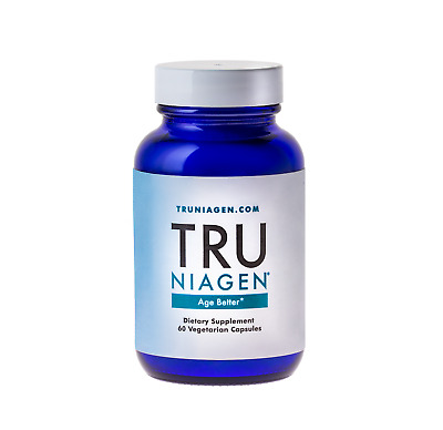 TRU NIAGEN NAD+ Booster ChromaDex Nicotinamide Riboside 60 vcaps 300mg Exp 01/21