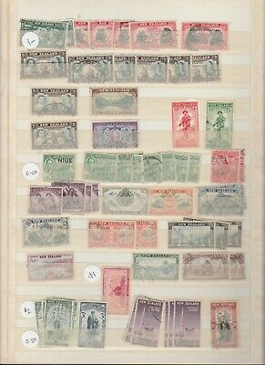 New Zealand 1940 - 1965 bulk stamps (3 pages)