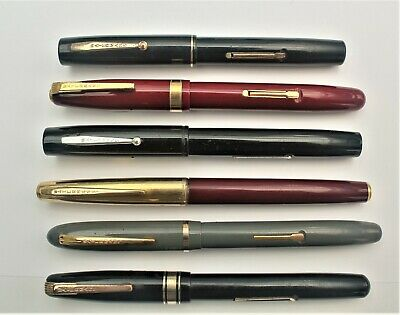 6 Watermans Fountain Pens - As Found