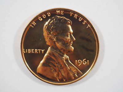 1961 P Lincoln Memorial Clad Penny Proof Cent US Coin Proof (PF) - SKU 88USPCL