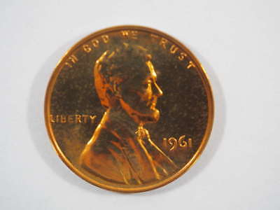 1961 P Lincoln Memorial Clad Penny Proof Cent US Coin Proof (PF) - SKU 89USPCL