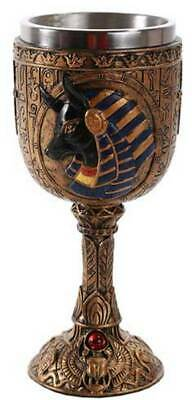 "6.75"" Ancient Egyptian Anubis Wine Goblet Chalice Cup Game of Thrones Room Decor"