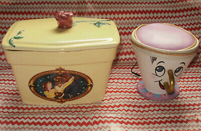 Disney Beauty and the Beast Butter Dish Tub Clover Edition & Chip Teacup Purse