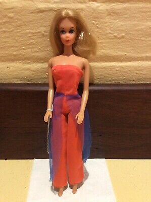 Barbie Live Action Head 1970 In Vintage Outfit