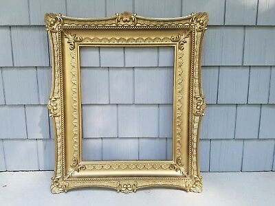 Large Vintage Picture Photo Art Frame Ornate Gold Syroco Type