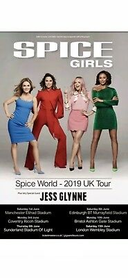 Spice girls X2 Tickets London Wembley Seated Thursday 13th June 2019 5pm