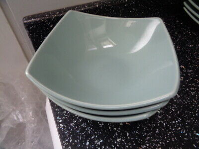 Marks And Spencer Andante Square Cereal Bowls X 3 - Light Green