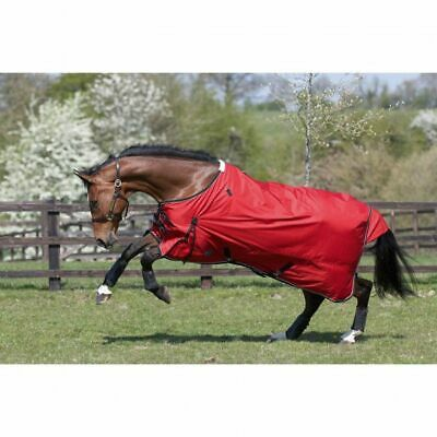 """JHL TURNOUT RUG LIGHTWEIGHT RED/NAVY All Sizes 5'6"""" to 7'0""""  waterproof"""