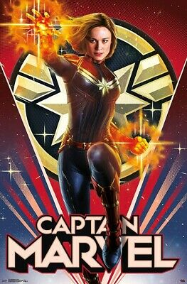 CAPTAIN MARVEL - HEROIC MOVIE POSTER - 22x34 - 17251
