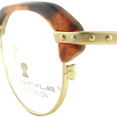 Vintage Club Glasses Eyeglasses Sunglasses New Frame Eyewear Gold Studs Tort