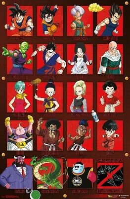 DRAGON BALL Z - ANNIVERSARY COLLAGE POSTER - 22x34 - 17495