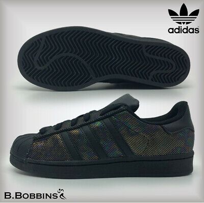 low priced 3e127 2e8b7 Adidas SUPERSTAR Iridescent Trainers Size UK 12 13 1 2 3 4 5 Girls Boys  Ladies