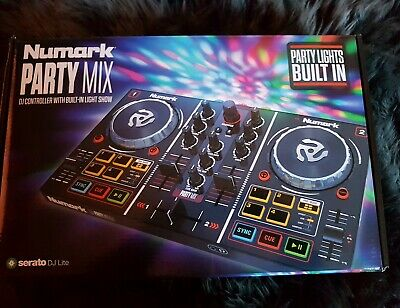 Numark Party Mix DJ Controller with Built-in Light Show & Software