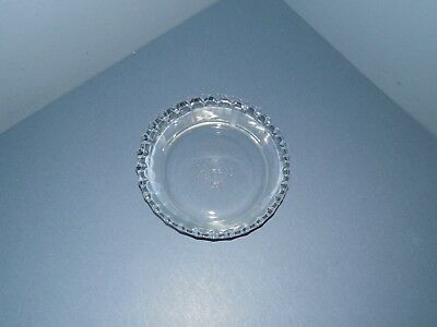 """Vintage PYREX Clear 6"""" Crimped Edge Individual Pie Plate/Tart Dish #206"""
