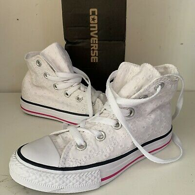 CONVERSE ALL STAR Shoes N 27 PIZZO WHITE Taylor New JUNIOR W38
