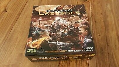 Shadowrun Crossfire Deck Building Game Comme Neuf Entierement Avec Sleeves