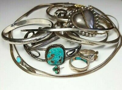 Wholesale 216 Gram Sterling Silver Wear & Scrap Silver Lot Navajo Southwest Cuff
