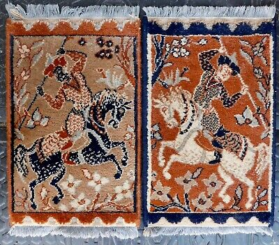 2 PRAYER RUGS Made in Belgium 100% Wool