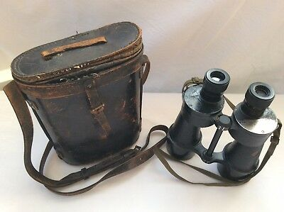 Vintage Binoculars In Leather Case
