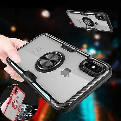 For iPhone XS Max XR X Luxury Hybrid Magnetic Stand Ring Holder Case Armor Cover