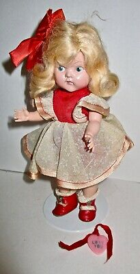 Original 1950 VOGUE GINNY- Valentine Girl-painted eye, strung