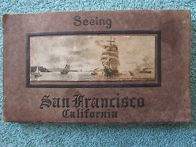 1915 Cardinell-Vincent PAN-PACIFIC Expo 24 POSTCARD Booklet SEEING SAN FRANCISCO