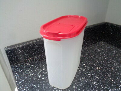 Tupperware Spacesaver Oval  3 - Red  Lid