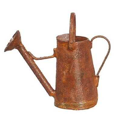 """Dollhouse Miniature Watering Can Rusted Tall Antique 1½"""" Tall 1:12 Scale"""