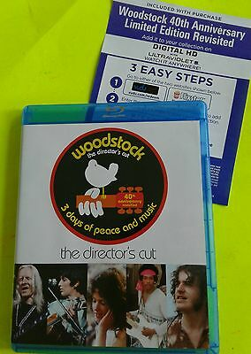 Woodstock 3 Days Of Peace  (3 Disc Directors Cut Blu-Ray Set) Authentic US