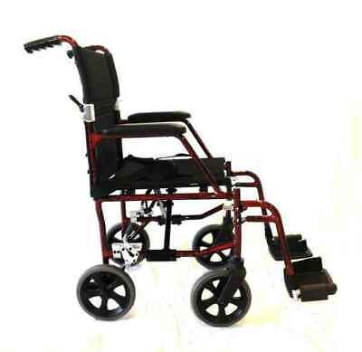 "18"" Ultra Light Wheelchair 8kg with fixed armrests"