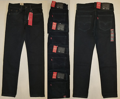 581e344538faf5 Mens Levis 502 Regular Taper Fit Stretch Jeans levi jean Dark Blue #70005