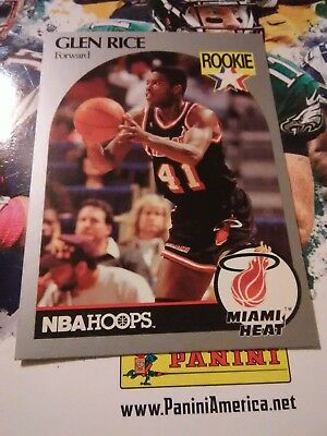 1990 1991 Nba Hoops Glen Rice Rookie Card