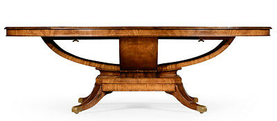 Incredible Flame Mahogany Oval English Regency 8 x 5 FT Dining Conference Table